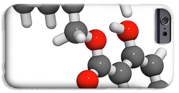 Octyl Salicylate Sunscreen Molecule IPhone Case by Molekuul
