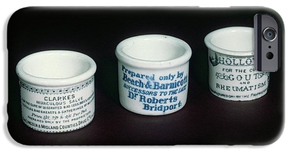 Ointment Pots IPhone Case by Science Photo Library