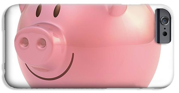 Piggy Bank IPhone Case by Ktsdesign