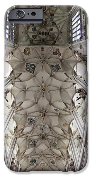pointed vault of Saint Barbara church IPhone Case by Michal Boubin