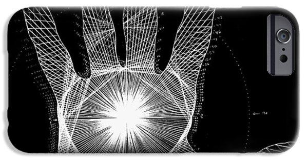 Quantum Hand Through My Eyes IPhone Case by Jason Padgett