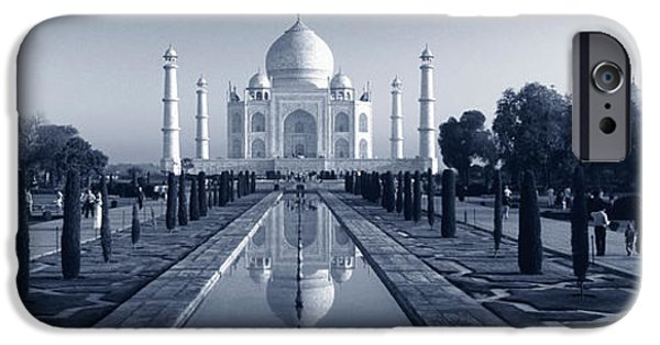 Reflection Of A Mausoleum On Water, Taj IPhone Case by Panoramic Images