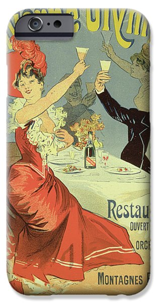 Reproduction Of A Poster Advertising IPhone Case by Jules Cheret