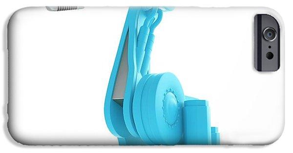 Robotic Equipment IPhone Case by Andrzej Wojcicki