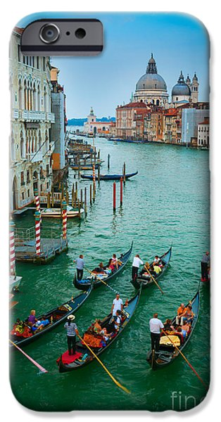 Six Gondolas IPhone Case by Inge Johnsson