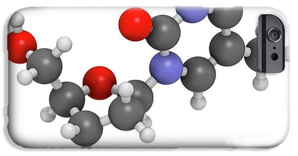 Thymidine Nucleoside Molecule IPhone Case by Molekuul