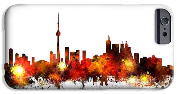 Toronto Canada Skyline IPhone Case by Michael Tompsett
