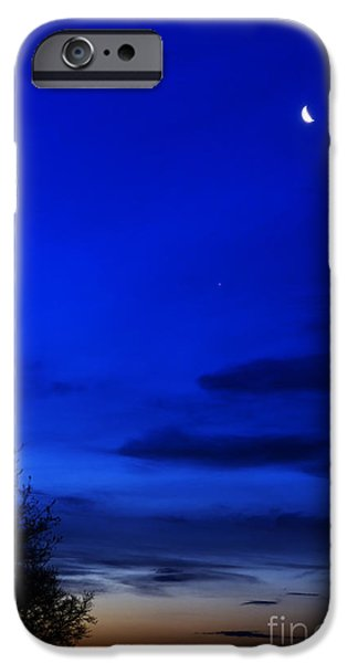 Venus And Moon  IPhone Case by Thomas R Fletcher