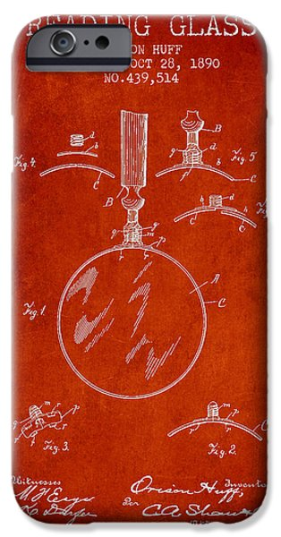 Vintage Reading Glass Patent From 1890 IPhone Case by Aged Pixel