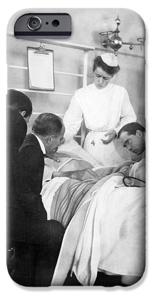 William Osler Attending A Patient IPhone Case by National Library Of Medicine