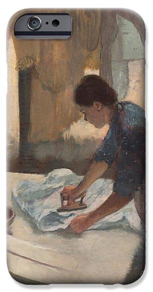 Woman Ironing IPhone Case by Edgar Degas