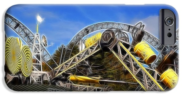 Alton Towers Smiler Roller Coaster Ride IPhone Case by Doc Braham