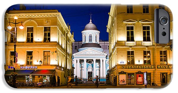 Buildings In A City Lit Up At Night IPhone 6s Case by Panoramic Images