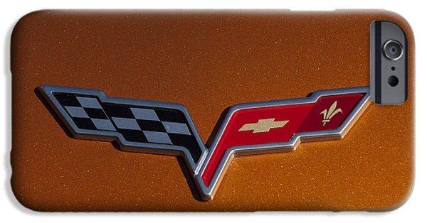 2007 Chevrolet Corvette Indy Pace Car Emblem IPhone Case by Jill Reger