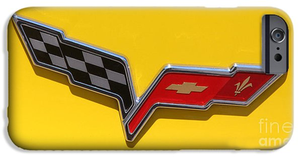 2010 Corvette Racing Yellow - Logo - 0083 IPhone Case by Gary Gingrich Galleries