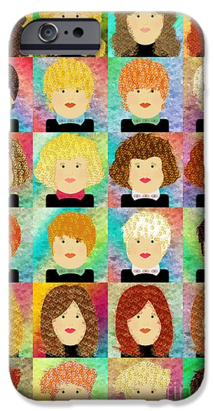 24 Porcelain Dolls 1 IPhone Case by Andee Design
