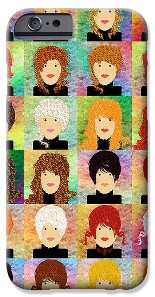 24 Porcelain Dolls 2 IPhone Case by Andee Design