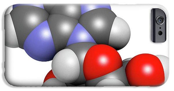 Adenosine Purine Nucleoside Molecule IPhone Case by Molekuul