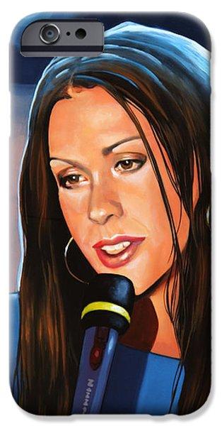 Alanis Morissette  IPhone Case by Paul Meijering