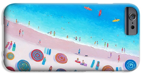 Beach Umbrellas IPhone Case by Jan Matson