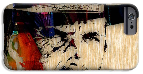 Clint Eastwood Collection IPhone Case by Marvin Blaine