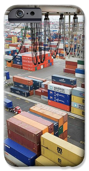 Container Port IPhone Case by Jim West