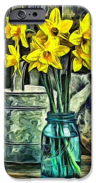 Daffodils IPhone Case by Edward Fielding