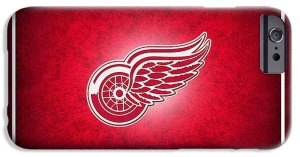 Detroit Red Wings IPhone Case by Joe Hamilton