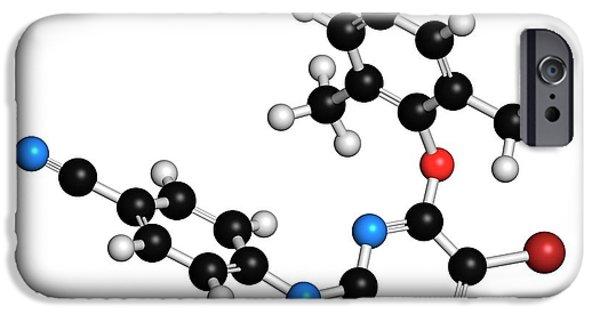 Etravirine Hiv Drug Molecule IPhone Case by Molekuul