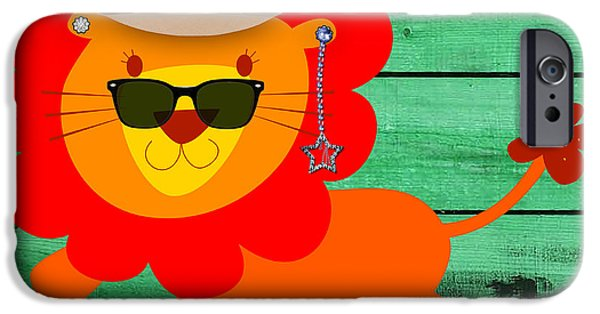 Friendly Lion Collection IPhone Case by Marvin Blaine