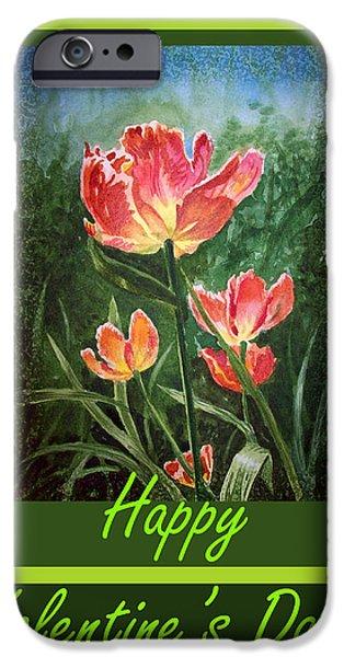 Happy Valentines Day IPhone Case by Irina Sztukowski