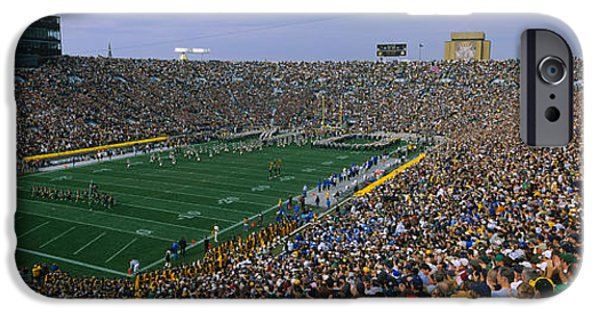 High Angle View Of A Football Stadium IPhone Case by Panoramic Images
