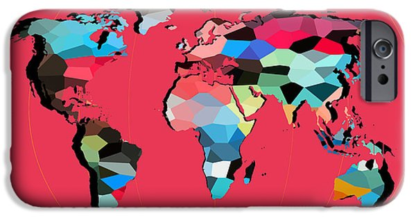 Map Of The World  IPhone Case by Mark Ashkenazi