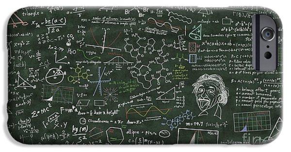 Maths Formula On Chalkboard IPhone Case by Setsiri Silapasuwanchai