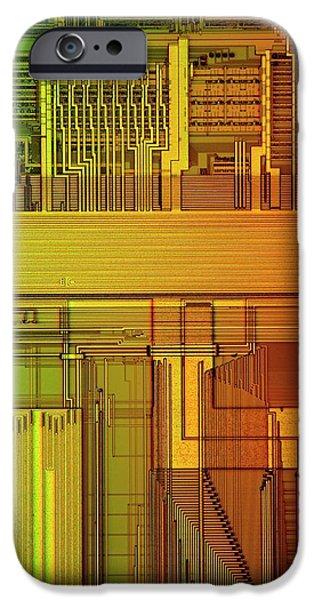 Microprocessor Components IPhone Case by Antonio Romero