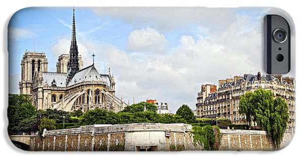 Notre Dame De Paris IPhone Case by Elena Elisseeva