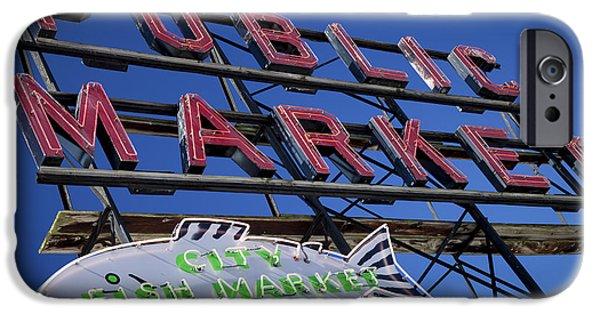 Seattle Market Sign IPhone Case by Brian Jannsen