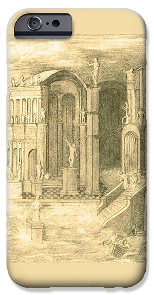 The Fall Of Atlantis IPhone Case by Ellen Henneke