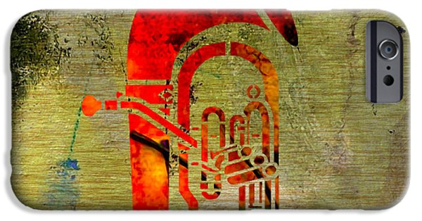 Tuba IPhone Case by Marvin Blaine