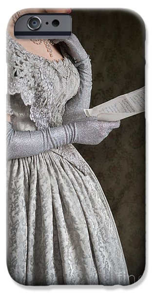 Victorian Woman Reading A Letter IPhone Case by Lee Avison