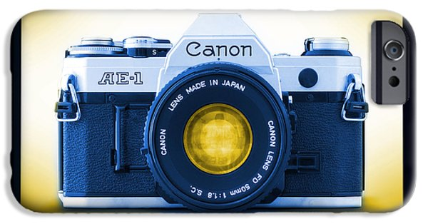 35mm Blues Canon Ae-1 IPhone Case by Mike McGlothlen