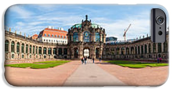 360 Degree View Of Zwinger Palace IPhone Case by Panoramic Images