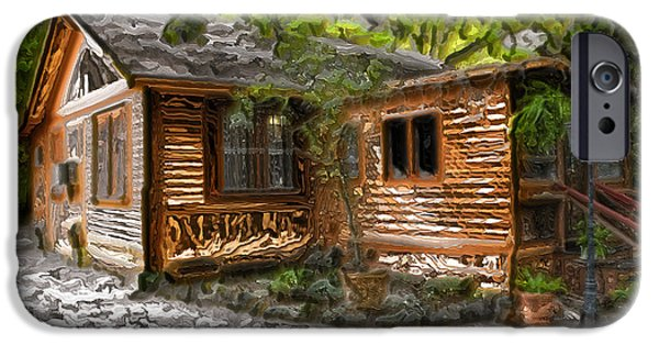 Wood Cabin IPhone Case by Carlos Diaz
