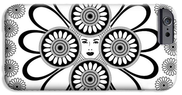 Art Nouveau Woman IPhone Case by Frank Tschakert