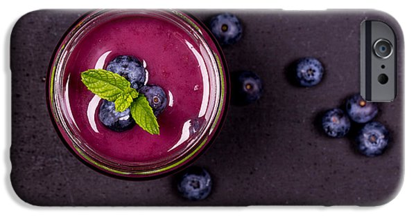 Blueberry Smoothie   IPhone Case by Jane Rix