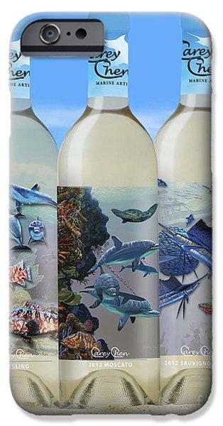 Carey Chen Fine Art Wines IPhone Case by Carey Chen