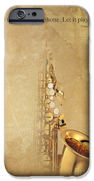 Charlie Parker Quote - Sax IPhone Case by Pablo Franchi