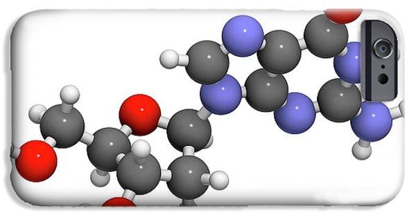 Deoxyguanosine Nucleoside Molecule IPhone Case by Molekuul