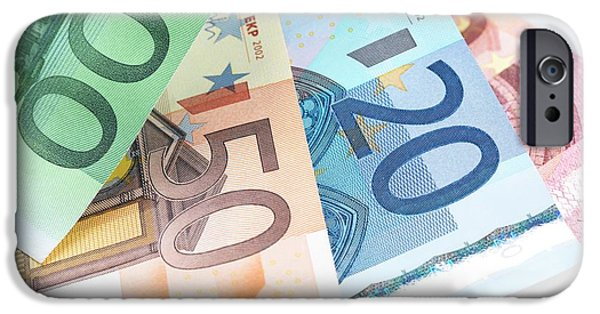 Euro Banknotes IPhone Case by Tek Image