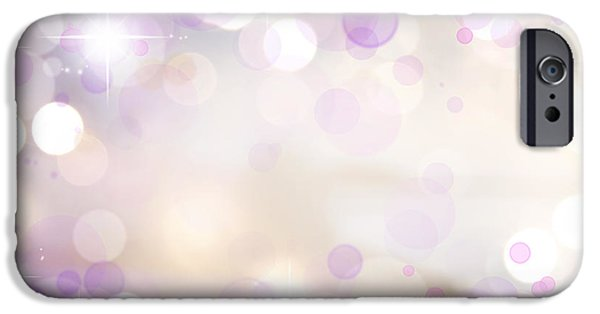 Pink Background IPhone Case by Les Cunliffe